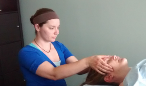 Katie licensed massage therapist facial massage